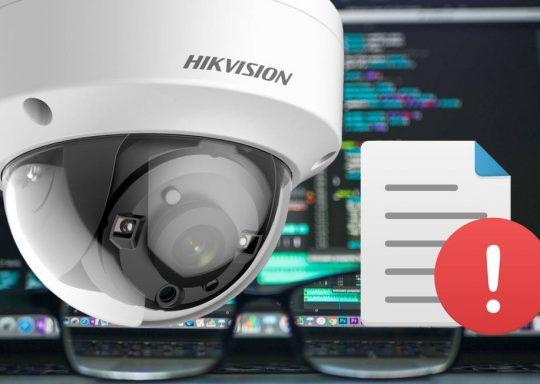 News : Vulnérabilité critique pour les caméras Hikvision – Faille CVE-2021-36260